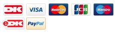 Du kan betale med de fleste kendte betalingskort