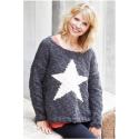 Oversize sweater med stjernemønster i Evita 893115