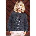 Pullover med hulmønster i Evita 893120