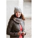 Ribsmønstret halsrør og hue i Evita 893112