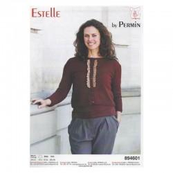 Trøje med blondekant i Estelle