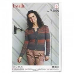 Trøje med mønster i Estelle