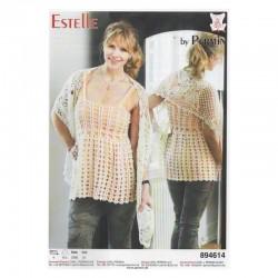 Hæklet sjal i Estelle