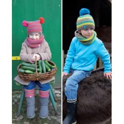 Opskrift på strikket børnehue og halsrør